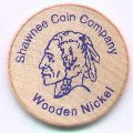 Shawnee Coin Company Wooden Nickel